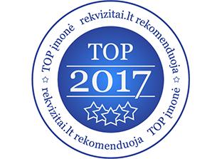top įmonė 2017